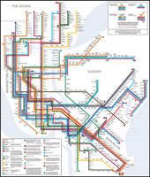 New York City Subway Map January 2001.Tube Map Central Writing On Map Design Newsletter Archive