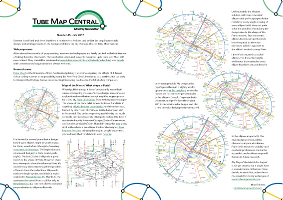 Tube Map Central Writing on Map Design: Newsletter Archive